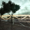 Amsterdam Iconic Pedestrian Bridge Proposal (2) west bank view /  Theodoros Giannopoulos