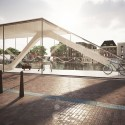 Amsterdam Iconic Pedestrian Bridge Proposal (4) bike repair station /  Theodoros Giannopoulos