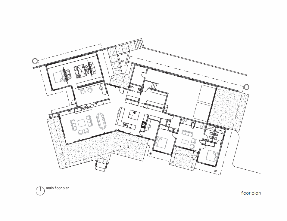 Architecture photography main floor plan 220815 River house floor plans