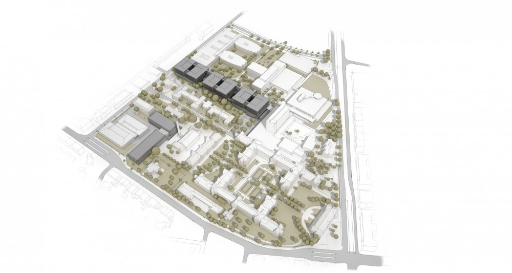 "New Buildings of the ""Klinikum 2015"" Plan for Karlsruhe Medical Centre / gmp Architekten"