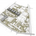 "New Buildings of the ""Klinikum 2015"" Plan for Karlsruhe Medical Centre (1) bird's eye view / Courtesy of gmp Architekten"