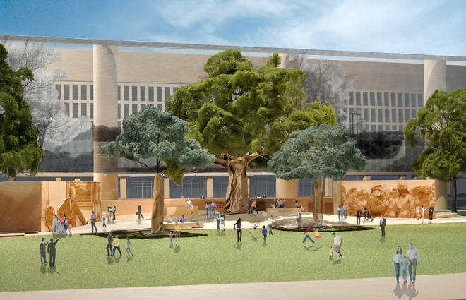 Gehry's controversial Eisenhower Memorial gains Support