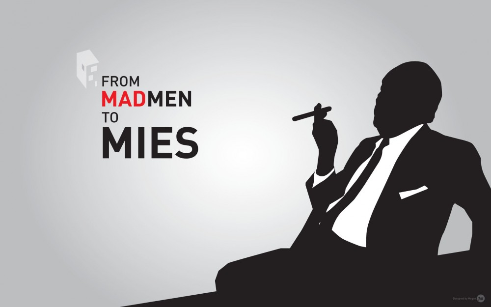 "Download the ""From Mad Men to Mies"" Wallpaper to your Tech Device"