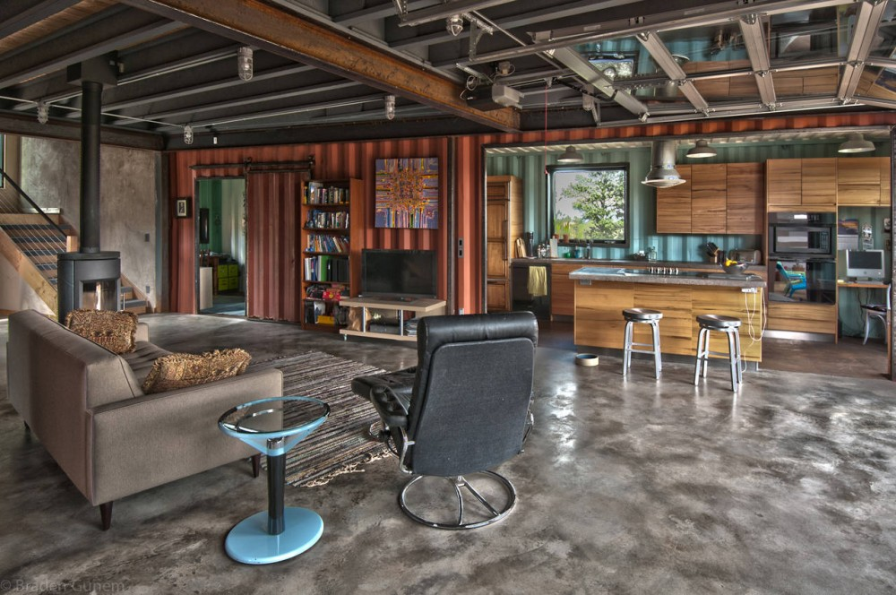 architecture photography shipping container house