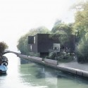 Australian Pavilion for Venice Biennale Winning Proposal (2) canal view / Courtesy of Denton Corker Marshall