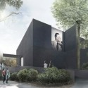Australian Pavilion for Venice Biennale Winning Proposal (1) main entry / Courtesy of Denton Corker Marshall