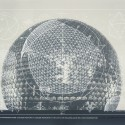 sfmoma_Fuller_01_GeodesicDome 1. Buckminster Fuller and Chuck Byrne, Building Construction/Geodesic Dome, United States Patent Office no. 2,682,235, from the portfolio Inventions: Twelve Around One, 1981; screen print in white ink on clear polyester film; 30 in. x 40 in. (76.2 cm x 101.6 cm); Collection SFMOMA, gift of Chuck and Elizabeth Byrne; © The Estate of R. Buckminster Fuller, All Rights reserved. Published by Carl Solway Gallery, Cincinnati.