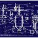 sfmoma_Fuller_04_UnderseaIsland 4. Buckminster Fuller and Chuck Byrne; Undersea Island-Submarisle, United States Patent Office no. 3,080,583, from the portfolio Inventions: Twelve Around One, 1981; screen print on polyester film; 30 x 40 in. (76.2 x 101.6 cm); Collection SFMOMA, gift of Chuck and Elizabeth Byrne; © The Estate of R. Buckminster Fuller, All Rights reserved. Published by Carl Solway Gallery, Cincinnati.