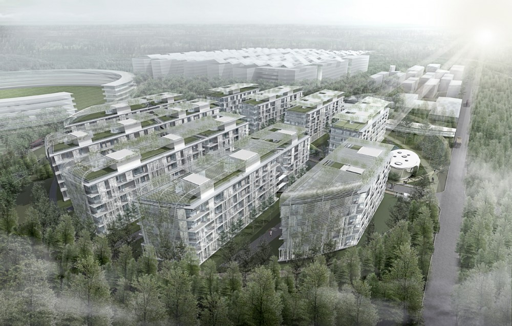 Skolkovo Technopark District D2 Residential Area / Saltans Architects_International + Jaeger and Partner Architects