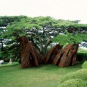 Na Hale 'o waiawi / Patrick Dougherty Na Hale 'o waiawi; Photo © Paul Kodama, courtesy of Contemporary Art Museum