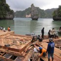 Archipelago Cinema / Buro Ole Scheeren, Film on the Rocks Yao Noi Foundation Courtesy of Film on the Rocks Yao Noi Foundation