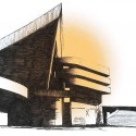 Gymnasium in Baghdad, Sketch by Le Corbusier. SketchPlanet