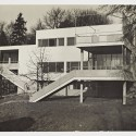 Harnischmacher House I, Garden Façade, view from the south; Wiesbaden, Germany; ca. 1932 Harnischmacher House I, Garden Façade / Architect: Marcel Breuer / Photographer: Wolf und Lotte Schede-Foto