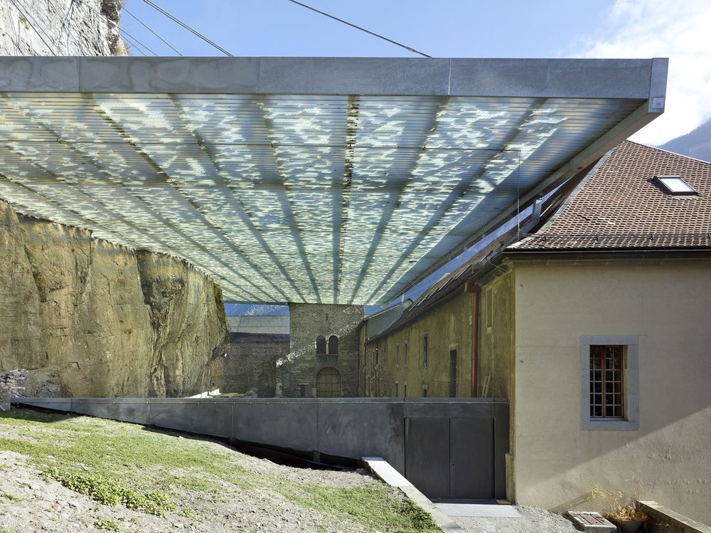 Coverage of Archaelogical Ruins of the Abbey Of St. Maurice / Savioz Fabrizzi Architectes
