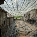 Coverage Of Archaelogical Ruins Of The Abbey Of St. Maurice /Savioz Fabrizzi Architectes © Thomas Jantscher
