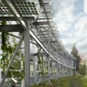 NASA Sustainability Base / William McDonough + Partners and AECOM (10) NASA Sustainability Base greenscreen  Cesar Rubio, courtesy William McDonough + Partners