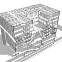 Tsinghua Law Library Building Proposal (12) axonometric