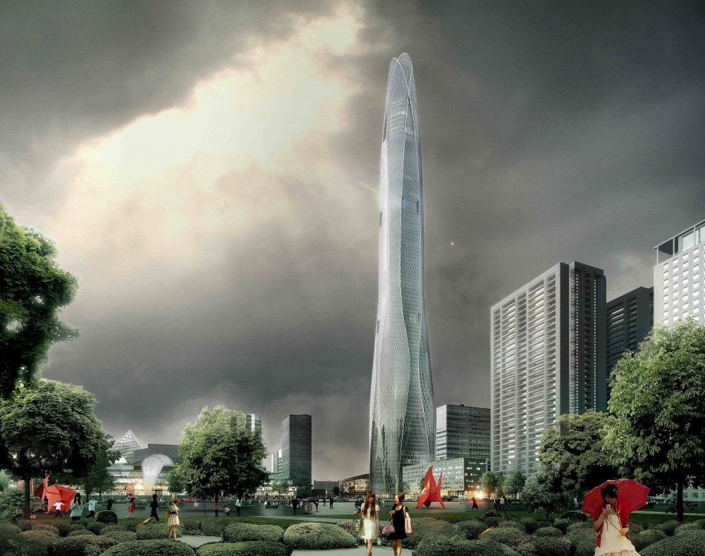 CTF Tianjin Tower Breaks Ground / SOM
