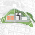 Olympic Tennis Centre / Dominique Perrault Architecture (71) site plan