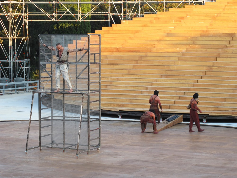 OMA designs stage set for ancient Greek theatre in Syracuse