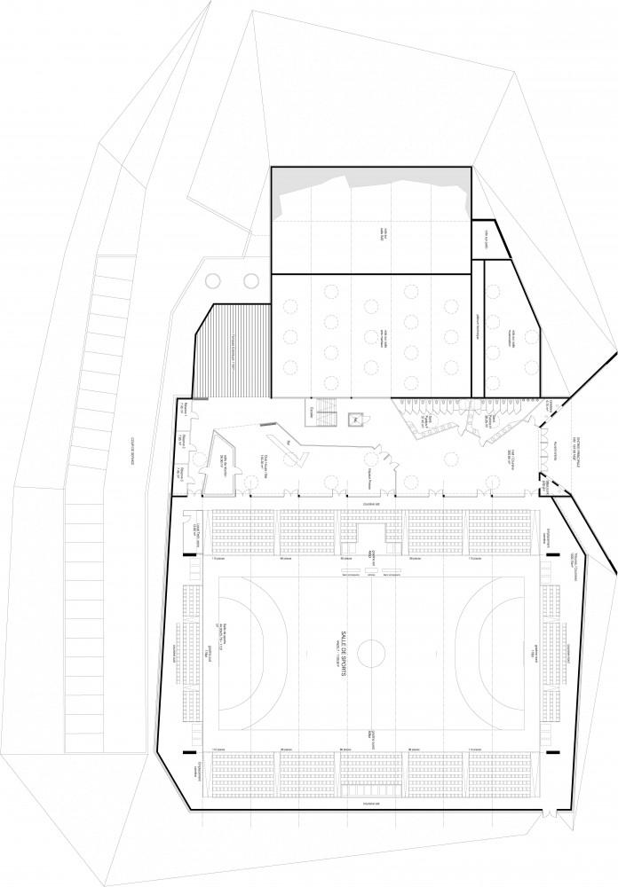 Gymnasium 'Palais des sports de Loudéac' (5) plan 01