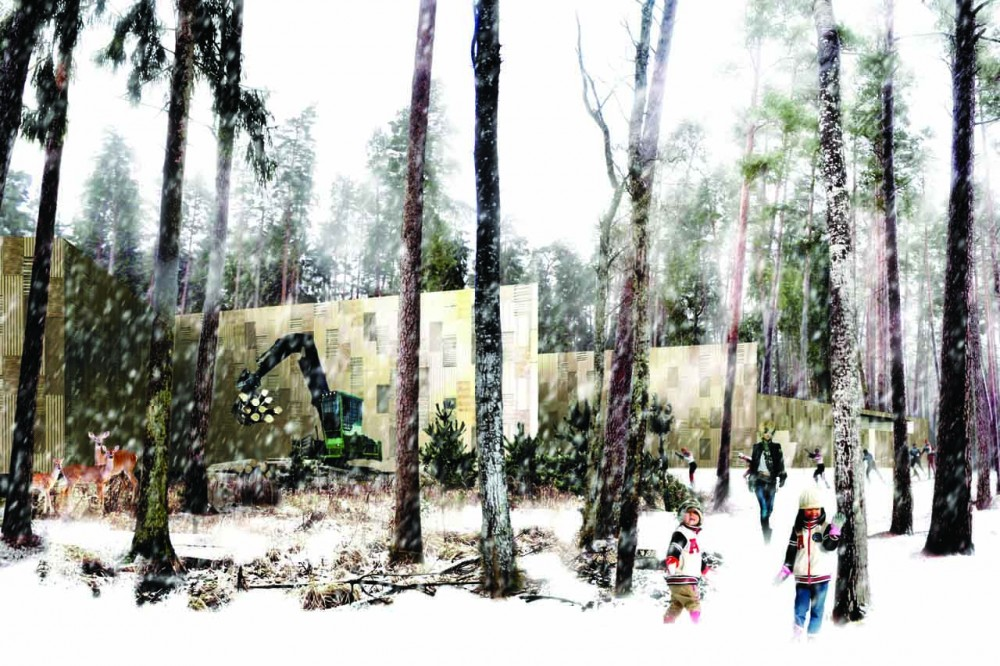 Tervete National Park Information Center / Sampling Architects