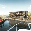 HWKN commissioned to rebuild Fire Island Pines Pavilion (1) Arrival - Courtesy of HWKN