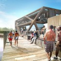 HWKN commissioned to rebuild Fire Island Pines Pavilion (2) Boardwalk - Courtesy of HWKN