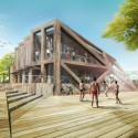 HWKN commissioned to rebuild Fire Island Pines Pavilion (4) Boulevard - Courtesy of HWKN