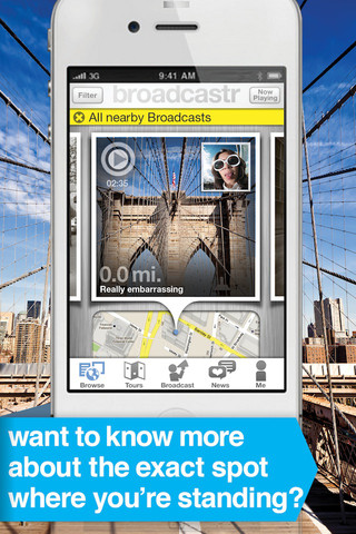 Walk around the city with the new AIA Broadcastr App
