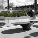 UrbanEdge (5) Ollie Small Seats, Stella Table, Gus Planters, Jessie Rail, Courtesy of Gustafson Guthrie Nichol and Landscape Forms