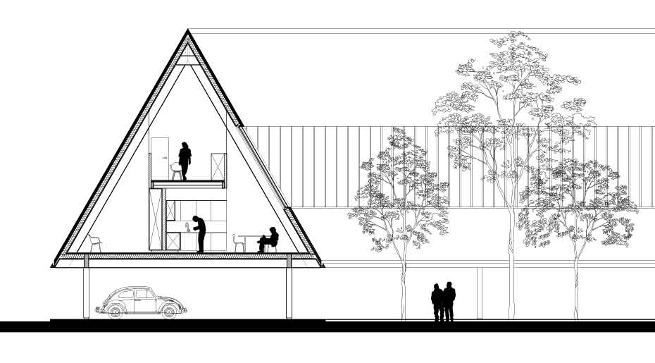 'Roof House' Proposal / Betillon/Dorval‐Bory Architectes