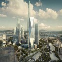 Diagonal Tower / SOM (1) © SOM / Crystal CG