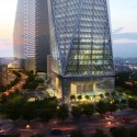 Diagonal Tower / SOM (4) © SOM / Crystal CG
