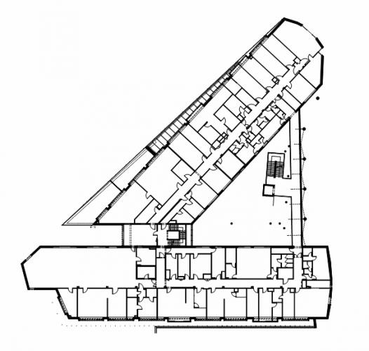 In vitro diagnostic centre peter kovacs dla istvan for Triangular house floor plans