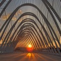 The Olympic Agora, designed by Santiago Calatrava, in Athens. Photo via Flickr User CC John &amp; Mel Kots.