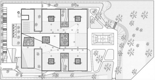 Medical cared center for disabled persons atelier z ndel House plans for disabled people