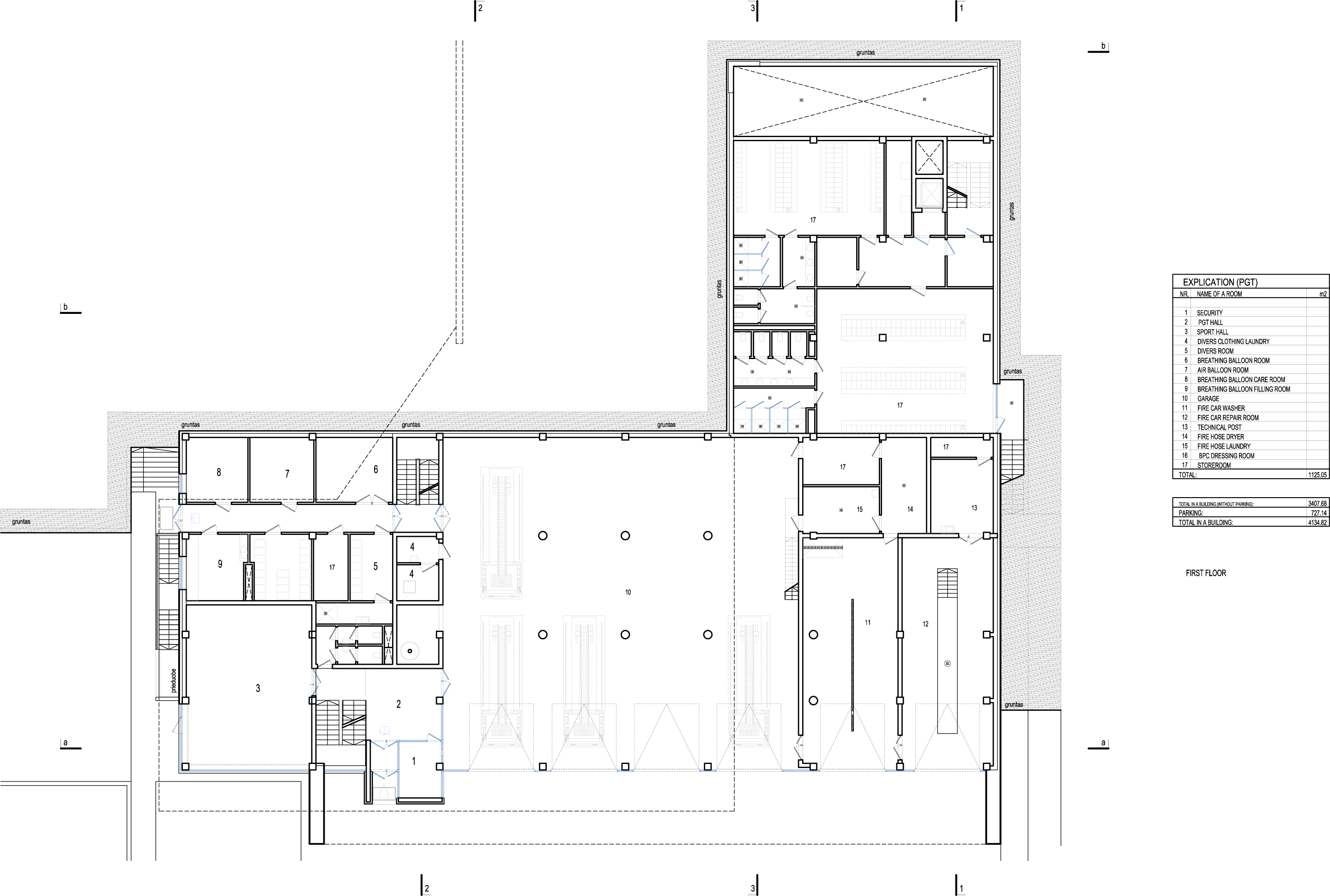 Fire station in vilnius laimos ir ginto projektai archdaily for Fire station floor plans design