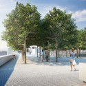 New York City's first Kahn Structure nears Completion (5) Forecourt - Credit: Franklin D. Roosevelt Four Freedoms Park, LLC