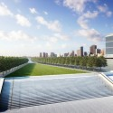 New York Citys first Kahn Structure nears Completion (6) Lawn Aerial - Credit: Franklin D. Roosevelt Four Freedoms Park, LLC