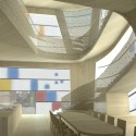 Steven Holl reveals Design Concept for Maggie's Barts (3) Bamboo Interior - Courtesy of Steven Holl Architects