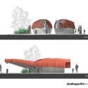 Kumutoto Toilets / Studio Pacific Architecture Elevation 01