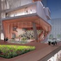 Diller Scofidio + Renfro Unveils New Columbia University Medical Building (3) Auditorium Entry - Courtesy of CUMC