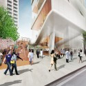 Diller Scofidio + Renfro Unveils New Columbia University Medical Building (4) Grandstand Entry - Courtesy of CUMC
