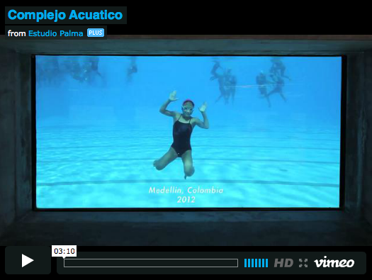 VIDEO: Aquatic Centre / LCLAOFFICE + Edgar Mazo + Sebastián Mejia, by Cristobal Palma