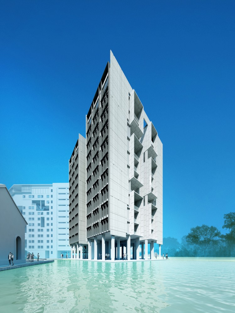 Singapore University of Technology and Design  Student Housing and Sports Complex / LOOK Architects