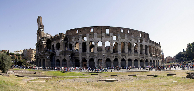 The leaning Colosseum of Rome