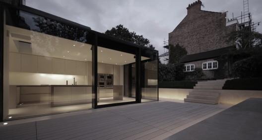 rear house extension garden design lbmv architects