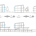 23 Semi-collective Housing Units / Lacaton &amp; Vassal Elevation &amp; Section 01