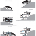 Wind-dyed house / acaa Elevation 01
